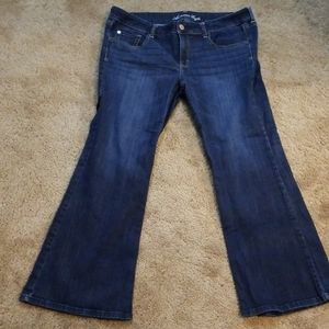 American eagle hipster bootleg jeans size 18.